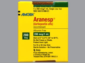 Aranesp 200 mcg/mL (in polysorbate) Injection