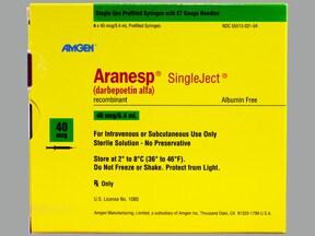Aranesp 40 mcg/0.4 mL (in polysorbate) injection syringe