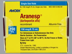Aranesp 150 mcg/0.75 mL (in polysorbate) Injection