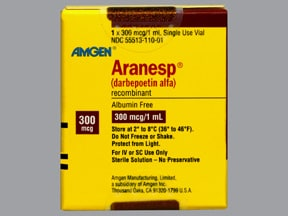 Aranesp 300 mcg/mL (in polysorbate) Injection