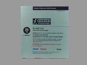 Enbrel 25 mg/0.5 mL (0.51 mL) subcutaneous syringe