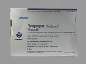 Neupogen 300 mcg/0.5 mL injection syringe