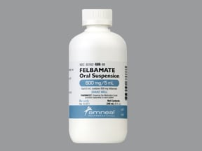 felbamate 600 mg/5 mL oral suspension