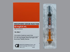 enoxaparin 60 mg/0.6 mL subcutaneous syringe