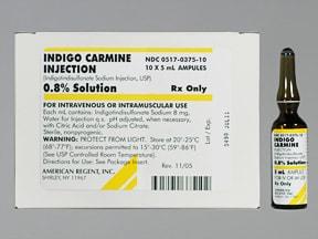 Indigo Carmine 8 mg/mL (0.8 %) injection solution
