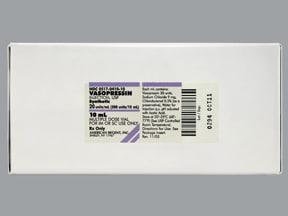 vasopressin 20 unit/mL injection solution