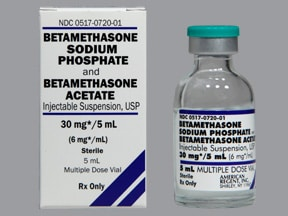 betamethasone acetate and sodium phos 6 mg/mL suspension for injection