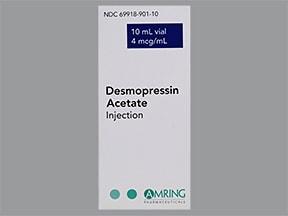 desmopressin 4 mcg/mL injection solution