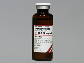 epinephrine 1 mg/mL injection solution