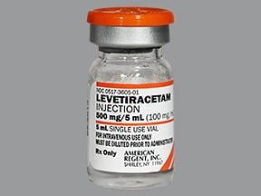 levetiracetam 500 mg/5 mL intravenous solution