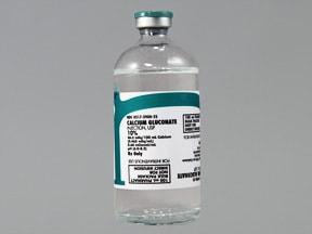calcium gluconate 100 mg/mL (10 %) intravenous solution