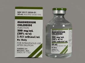 magnesium chloride 200 mg/mL (20 %) injection solution