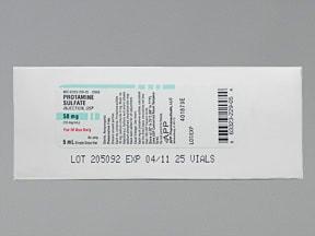 protamine 10 mg/mL intravenous solution