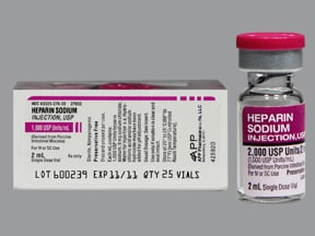 heparin, porcine (PF) 1,000 unit/mL injection solution