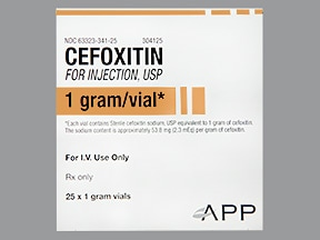cefoxitin 1 gram intravenous solution