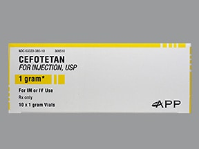 cefotetan 1 gram solution for injection
