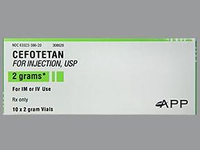 cefotetan 2 gram solution for injection
