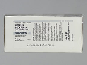 heparin lock flush (porcine) 100 unit/mL intravenous solution