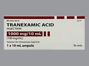 tranexamic acid 1,000 mg/10 mL (100 mg/mL) intravenous solution