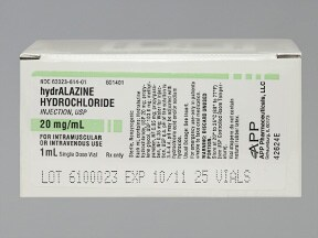 hydralazine 20 mg/mL injection solution