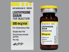 levothyroxine 500 mcg intravenous solution