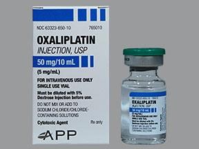 oxaliplatin 50 mg/10 mL (5 mg/mL) intravenous solution