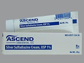 silver sulfadiazine 1 % topical cream