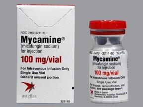 Mycamine 100 mg intravenous solution