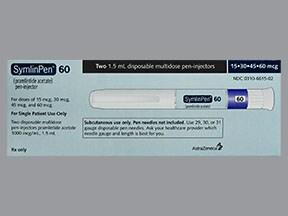 SymlinPen 60 1,500 mcg/1.5 mL subcutaneous pen injector