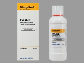 Paxil 10 mg/5 mL oral suspension