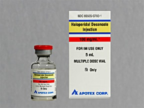 haloperidol decanoate 100 mg/mL intramuscular solution