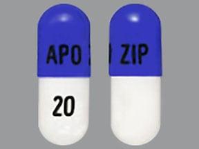 ziprasidone 20 mg capsule