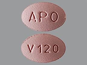 verapamil ER (SR) 120 mg tablet,extended release