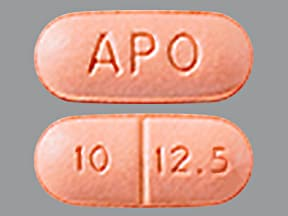 quinapril 10 mg-hydrochlorothiazide 12.5 mg tablet