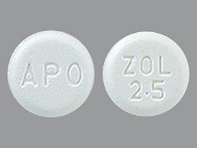 zolmitriptan 2.5 mg disintegrating tablet