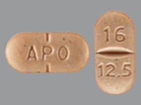 candesartan 16 mg-hydrochlorothiazide 12.5 mg tablet