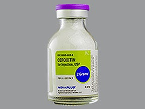 cefoxitin 2 gram intravenous solution