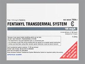 fentanyl 100 mcg/hr transdermal patch
