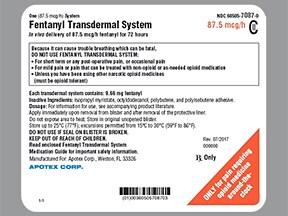 fentanyl 87.5 mcg/hour transdermal patch