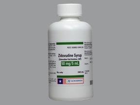 zidovudine 10 mg/mL syrup
