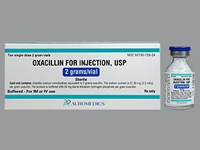 oxacillin 2 gram solution for injection
