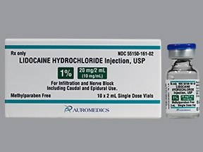lidocaine (PF) 10 mg/mL (1 %) injection solution