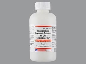 amoxicillin 600 mg-potassium clavulanate 42.9 mg/5 mL oral suspension