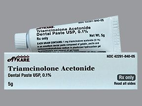 triamcinolone acetonide 0.1 % dental paste