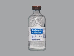 ifosfamide 3 gram intravenous solution