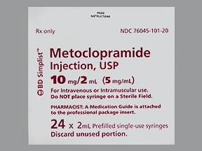 metoclopramide 5 mg/mL injection syringe