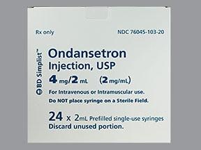 ondansetron HCl (PF) 4 mg/2 mL injection syringe