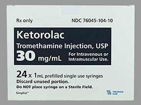 ketorolac 30 mg/mL injection syringe