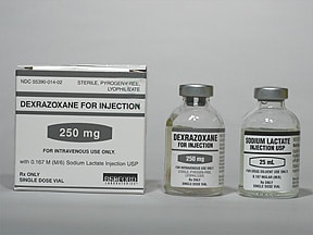 dexrazoxane HCl 250 mg intravenous solution
