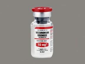 vecuronium bromide 10 mg intravenous solution